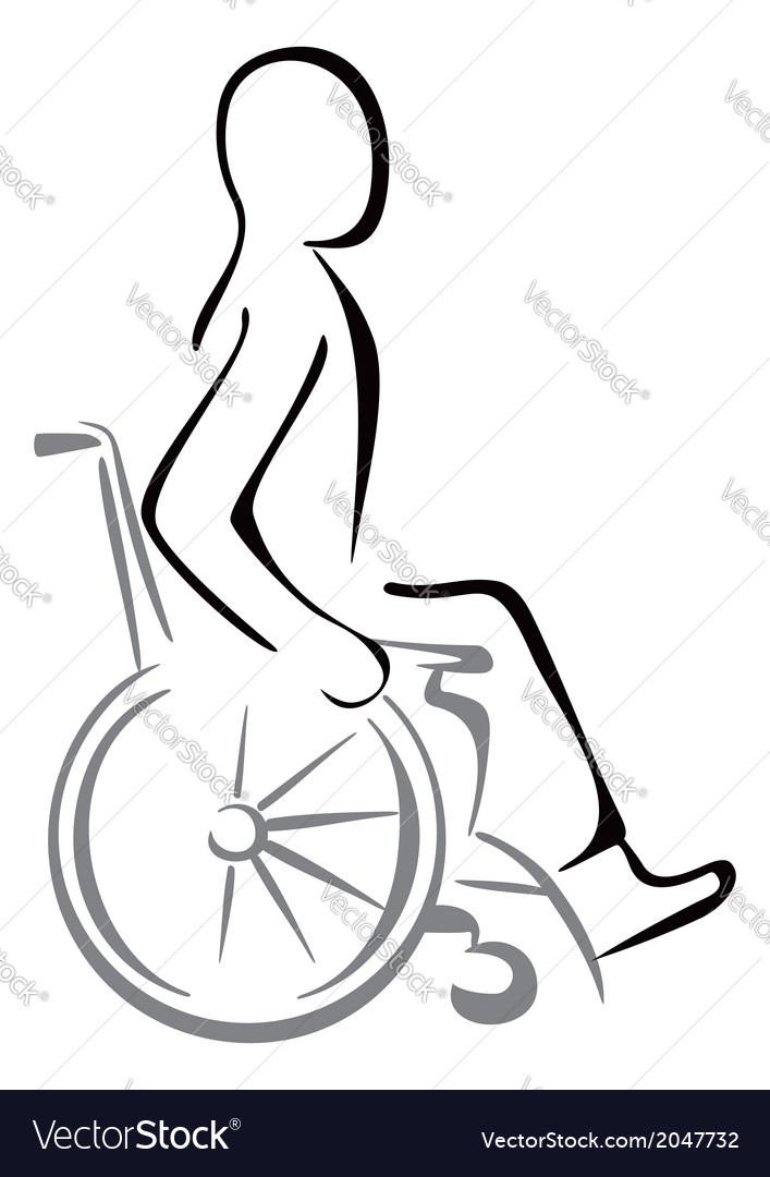 Disabled in a wheelchair vector | Price: 1 Credit (USD $1)