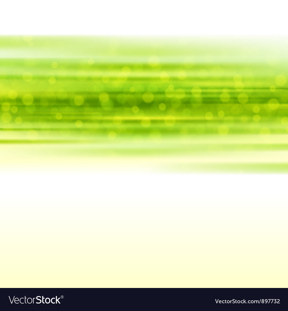 Green smooth light lines with lens effect vector | Price: 1 Credit (USD $1)