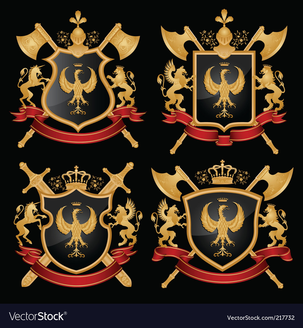 Heraldry emblem vector | Price: 1 Credit (USD $1)