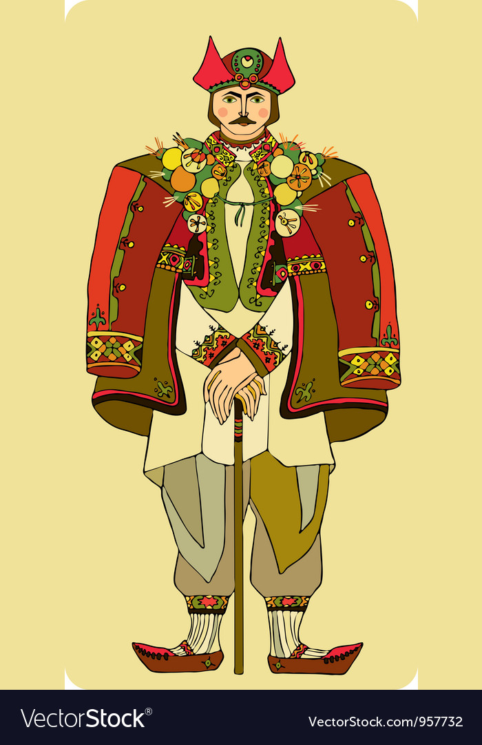 Man national costume vector | Price: 1 Credit (USD $1)