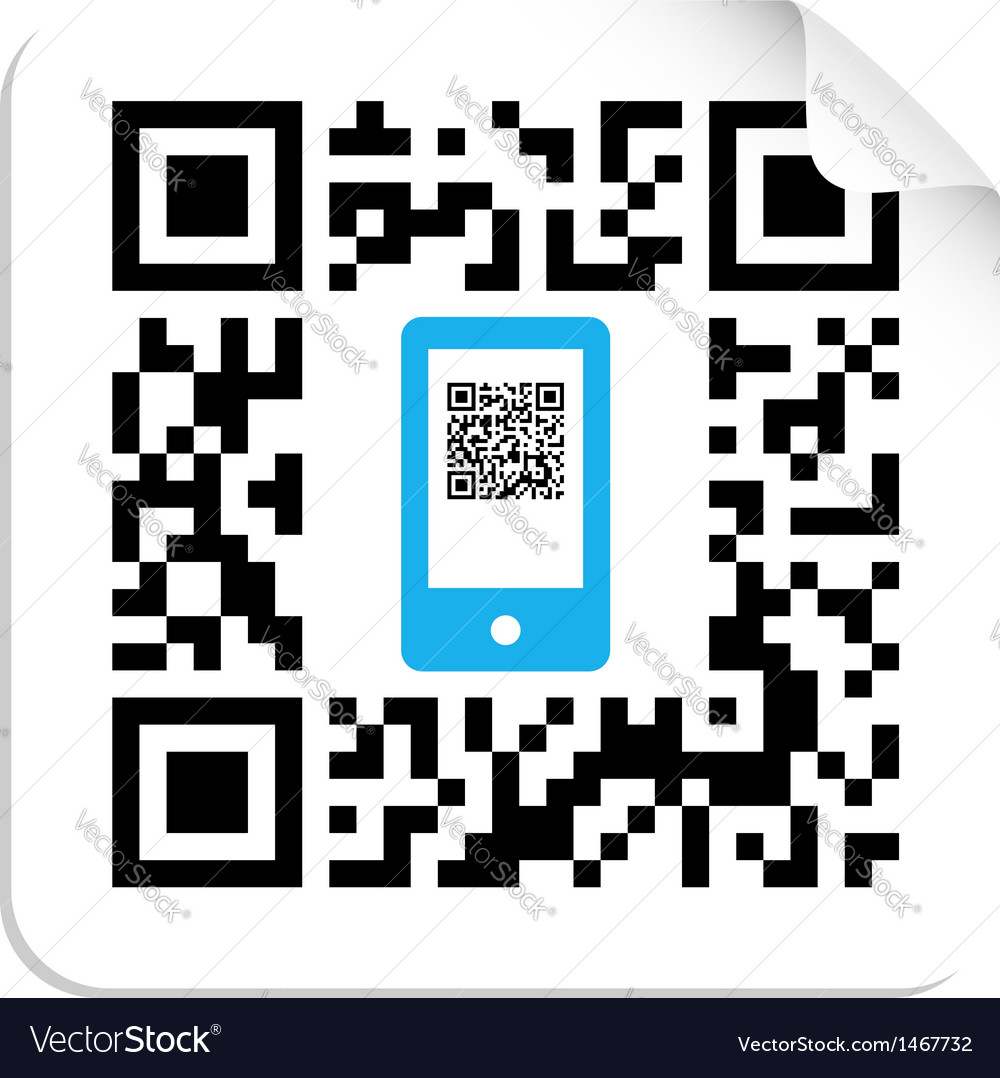 Qr code mobile label vector | Price: 1 Credit (USD $1)