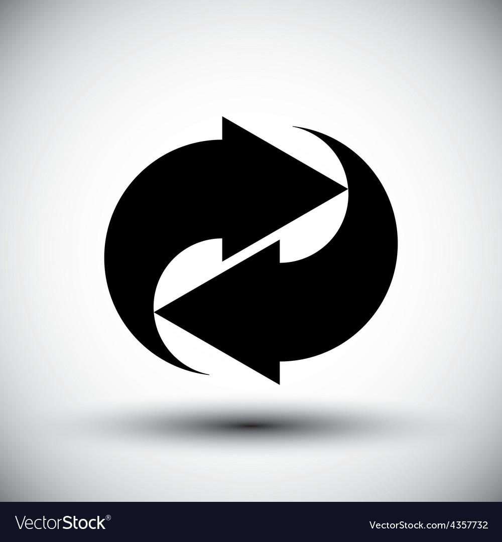 Reload refresh arrows loop simple single color vector | Price: 1 Credit (USD $1)