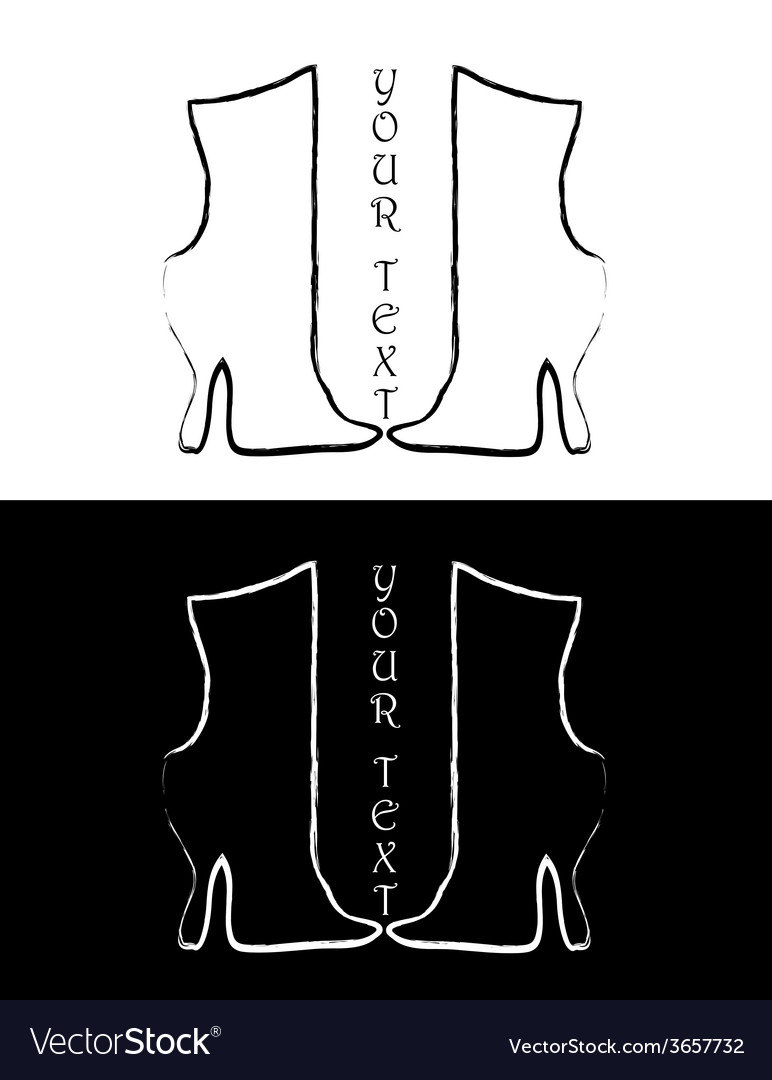 Set sing of boots vector | Price: 1 Credit (USD $1)