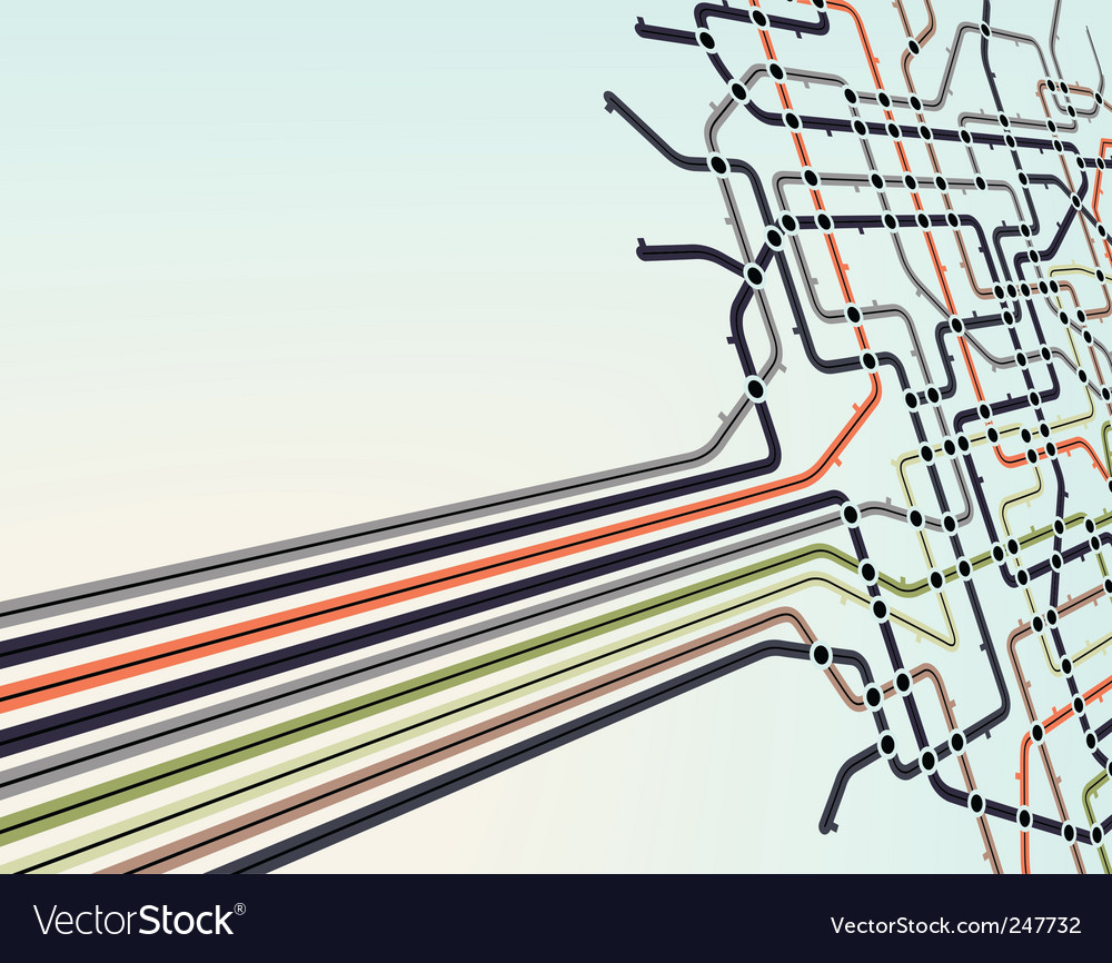 Subway network vector | Price: 1 Credit (USD $1)