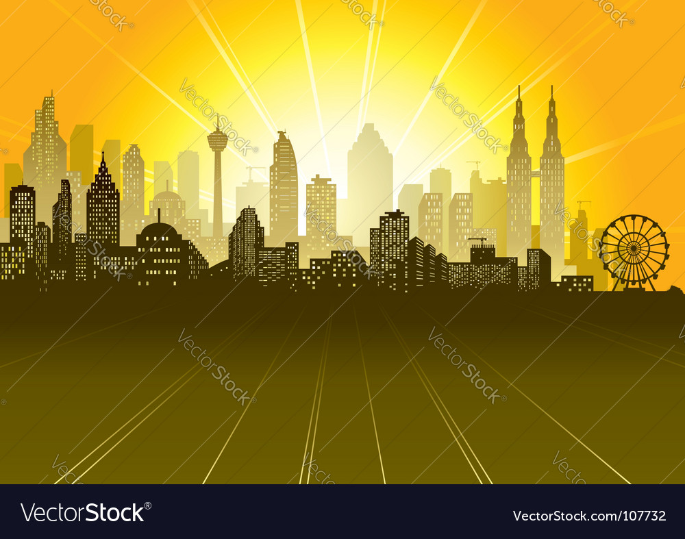 Urban scene vector | Price: 1 Credit (USD $1)