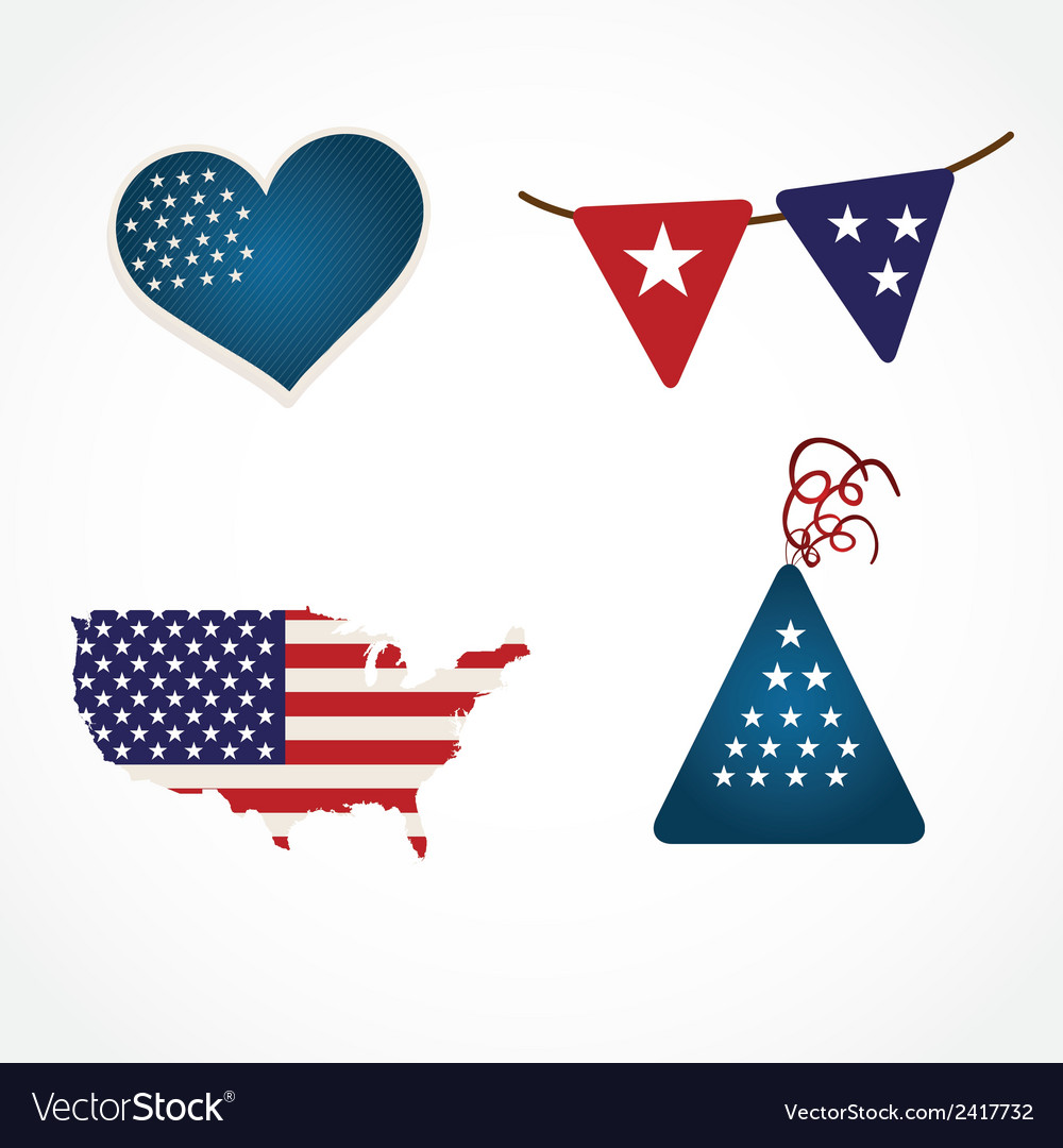 Usa icons vector | Price: 1 Credit (USD $1)