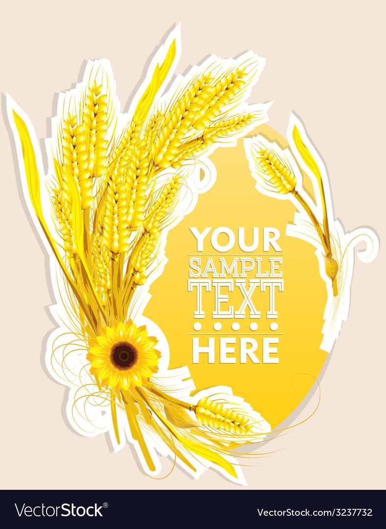 Wheat decoration vector | Price: 1 Credit (USD $1)