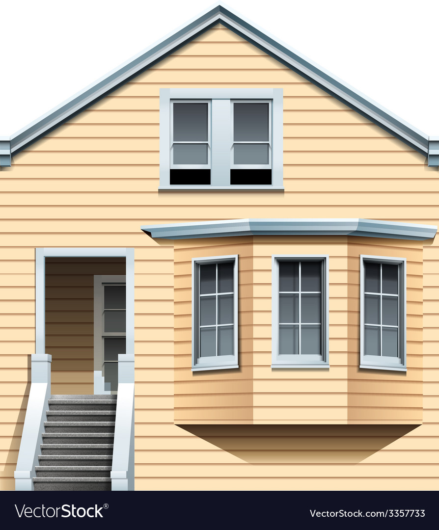 A wooden residential house vector | Price: 1 Credit (USD $1)