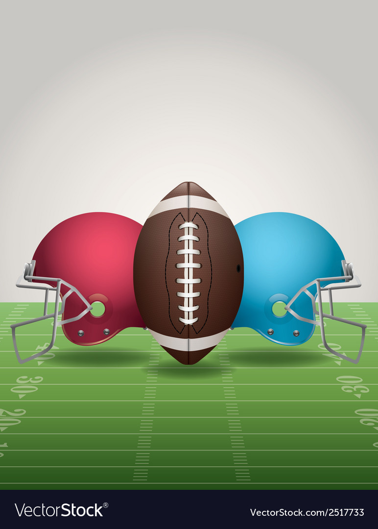 American football helmets background vertical vector | Price: 1 Credit (USD $1)
