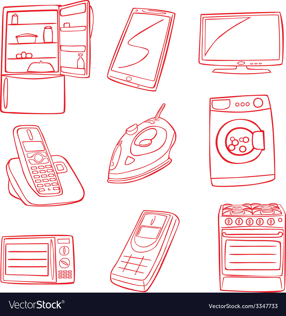 Aplliance icons vector | Price: 1 Credit (USD $1)