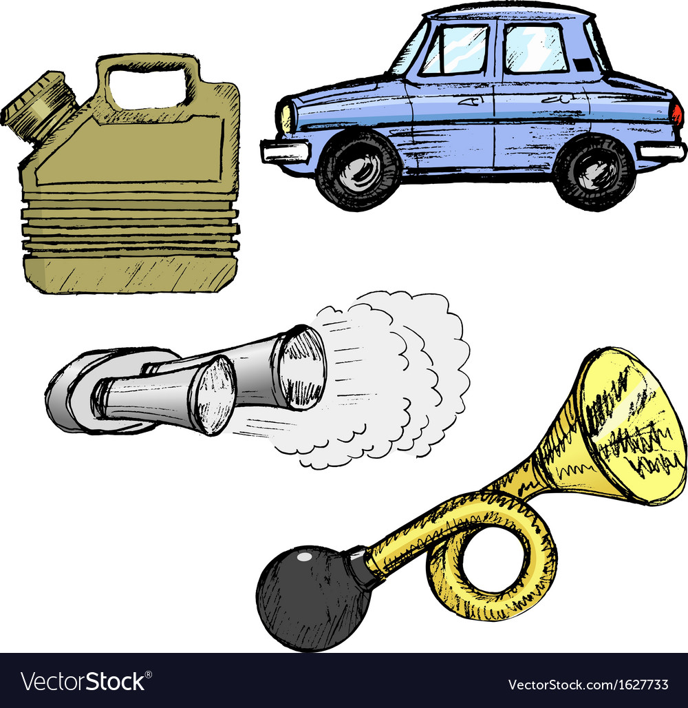 Automotive objects vector | Price: 1 Credit (USD $1)