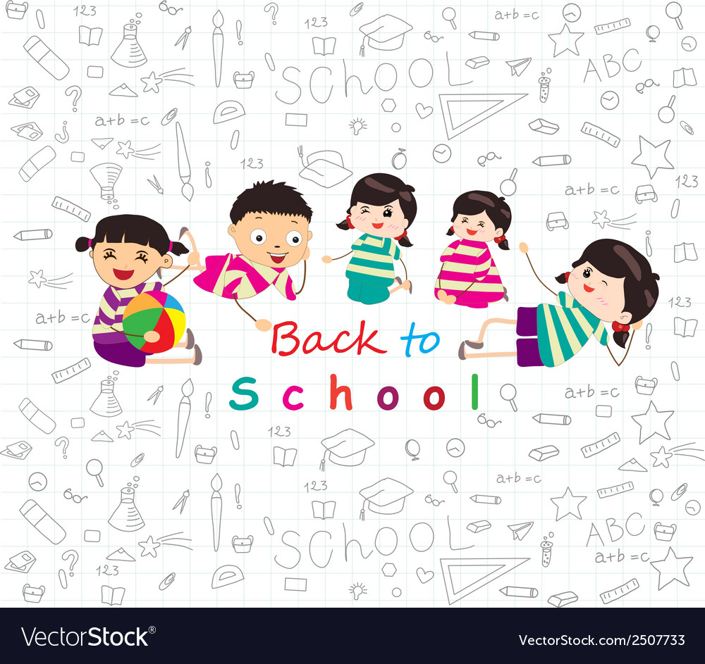 Back to school sketches vector | Price: 1 Credit (USD $1)