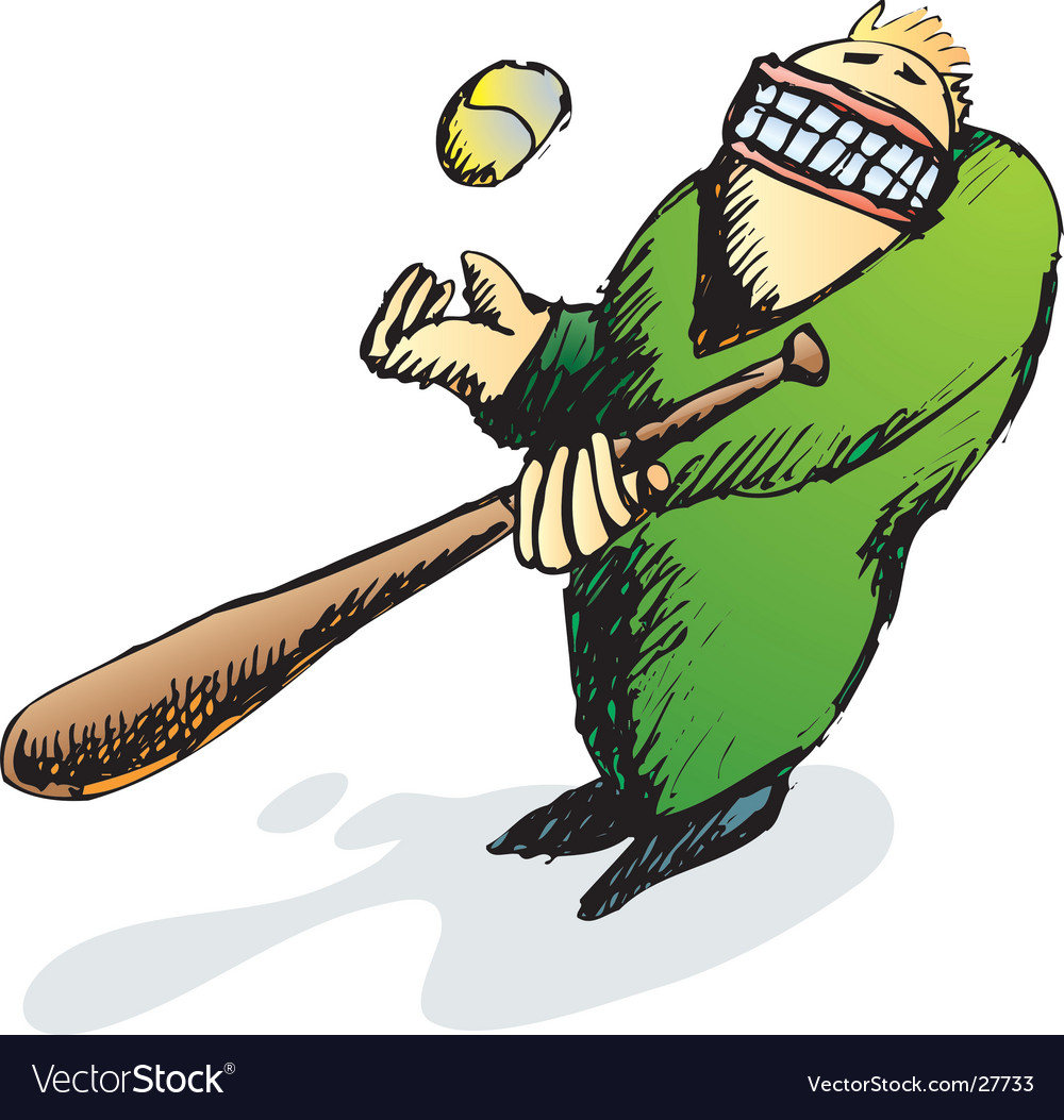 Baseball player vector | Price: 1 Credit (USD $1)