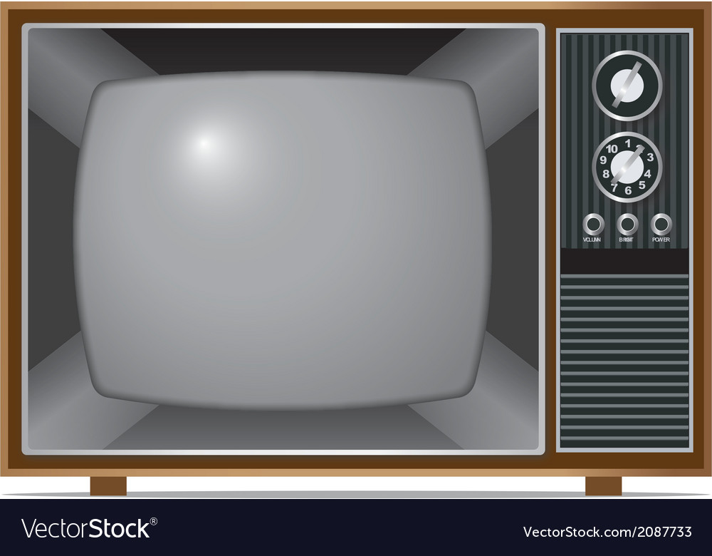 Classic tv vector | Price: 1 Credit (USD $1)