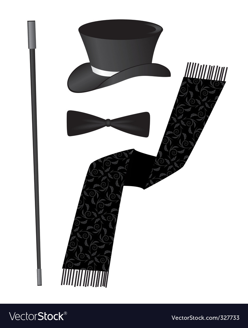 Gentleman accessories vector | Price: 1 Credit (USD $1)
