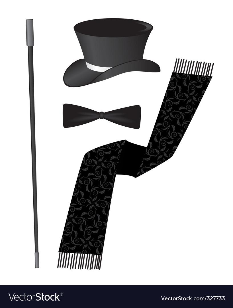 Gentleman accessories vector | Price: 1 Credit (USD $1)