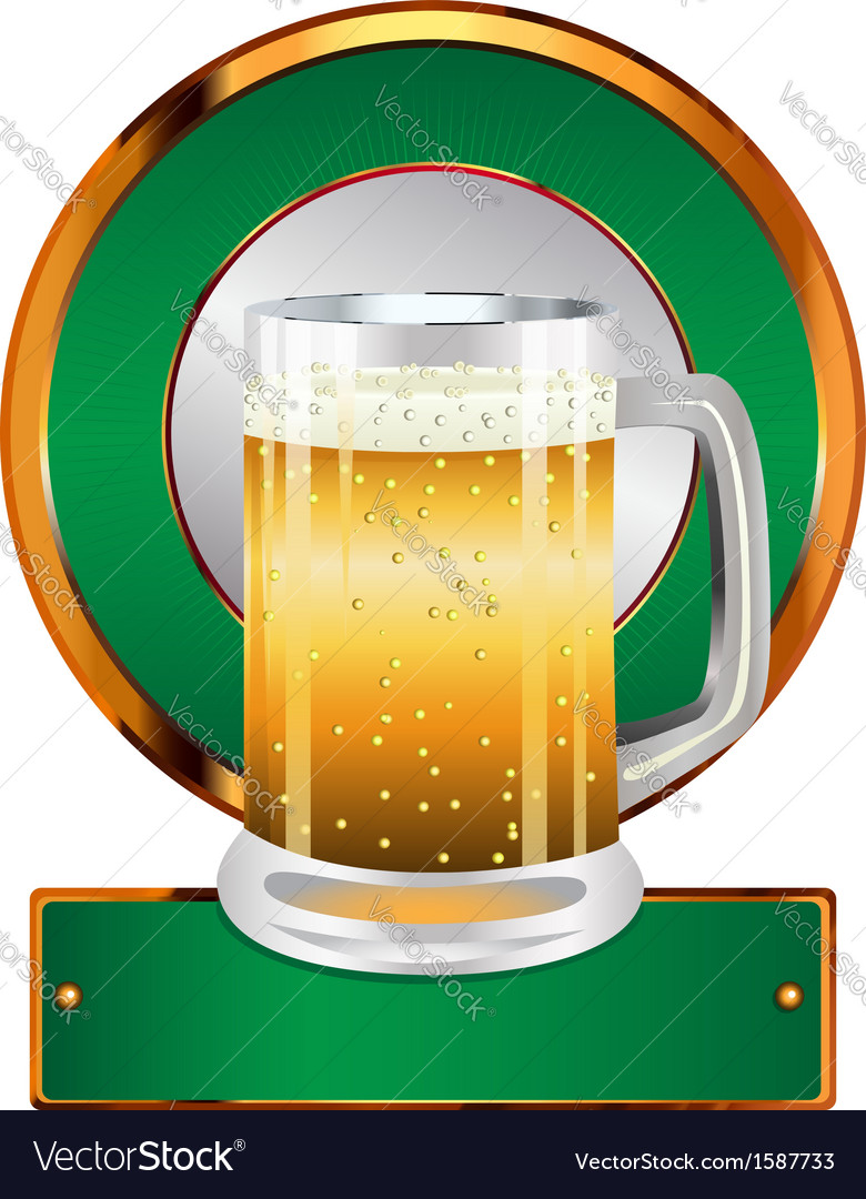 Label with beer glass2 vector | Price: 1 Credit (USD $1)