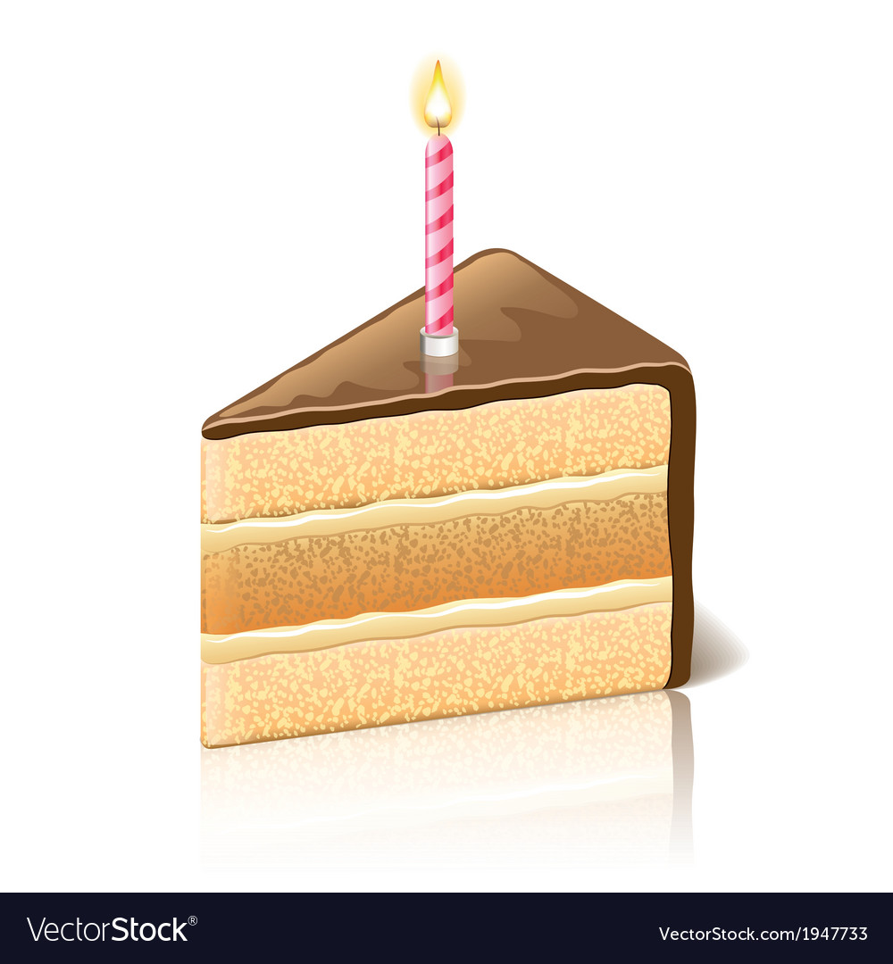 Object piece of cake chocolate vector | Price: 1 Credit (USD $1)