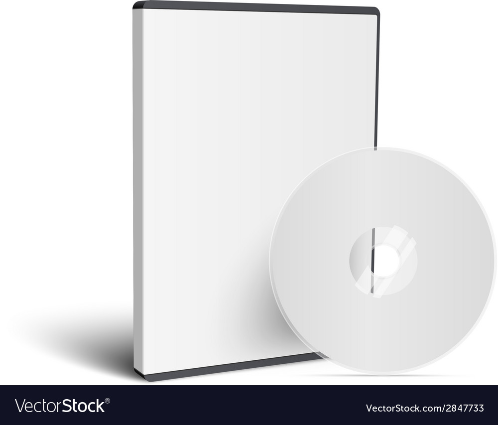 Realistic case for dvd or cd disk with disk vector | Price: 1 Credit (USD $1)