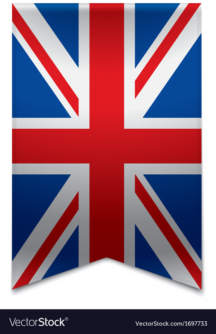 Ribbon banner - british flag vector | Price: 1 Credit (USD $1)