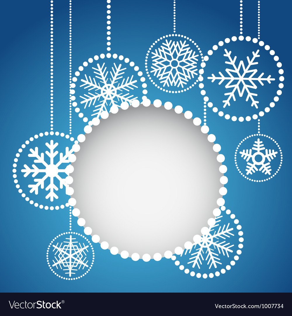 Abstract christmas balls with ornament vector | Price: 1 Credit (USD $1)