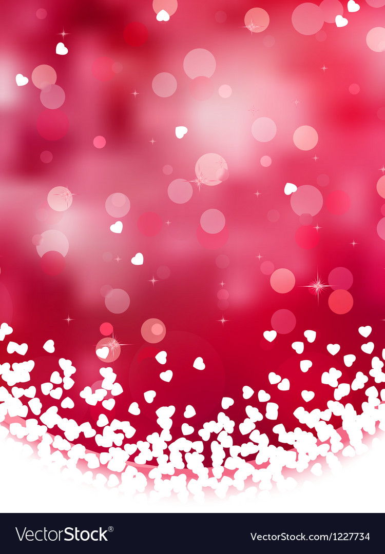 Abstract heart bokeh background vector | Price: 1 Credit (USD $1)