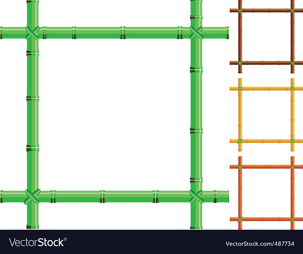 Bamboo frames vector | Price: 1 Credit (USD $1)