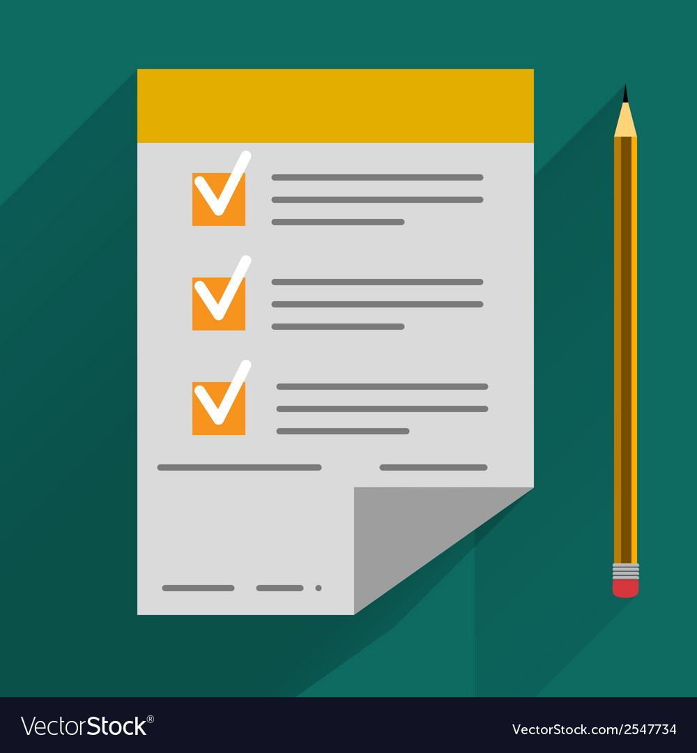 Concept in flat style - agreement and pen vector | Price: 1 Credit (USD $1)