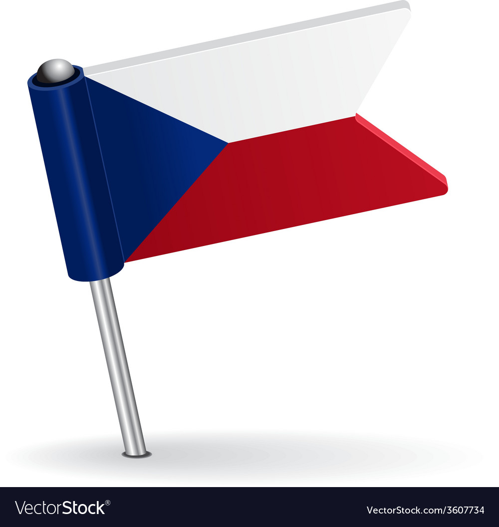 Czech pin icon flag vector | Price: 1 Credit (USD $1)