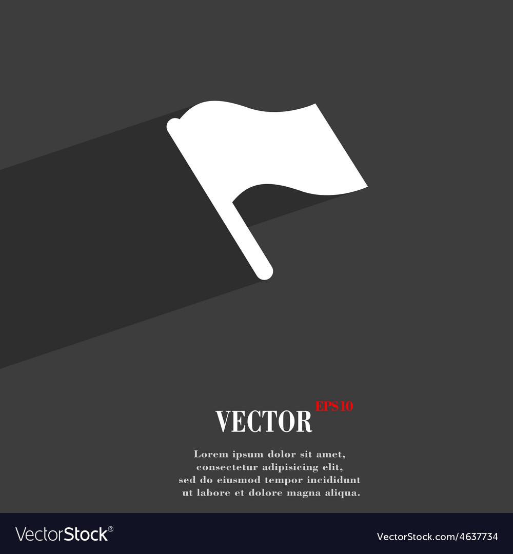 Finish start flag icon symbol flat modern web vector | Price: 1 Credit (USD $1)