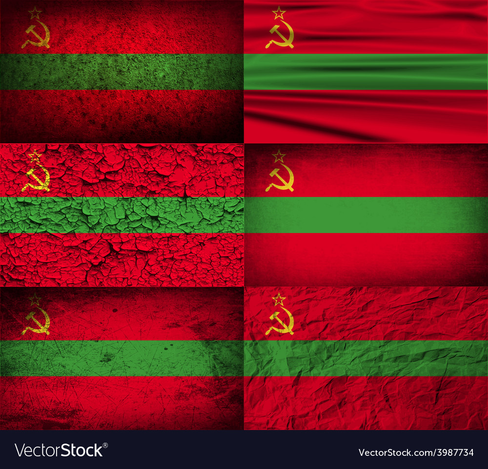 Flag of transnistria with old texture vector | Price: 1 Credit (USD $1)