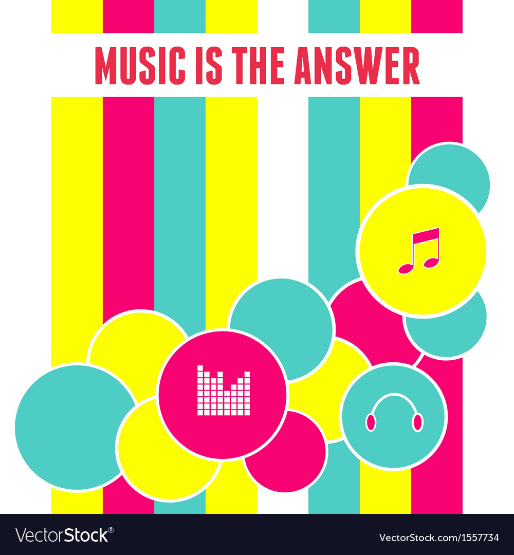 Flat design abstract music background vector | Price: 1 Credit (USD $1)