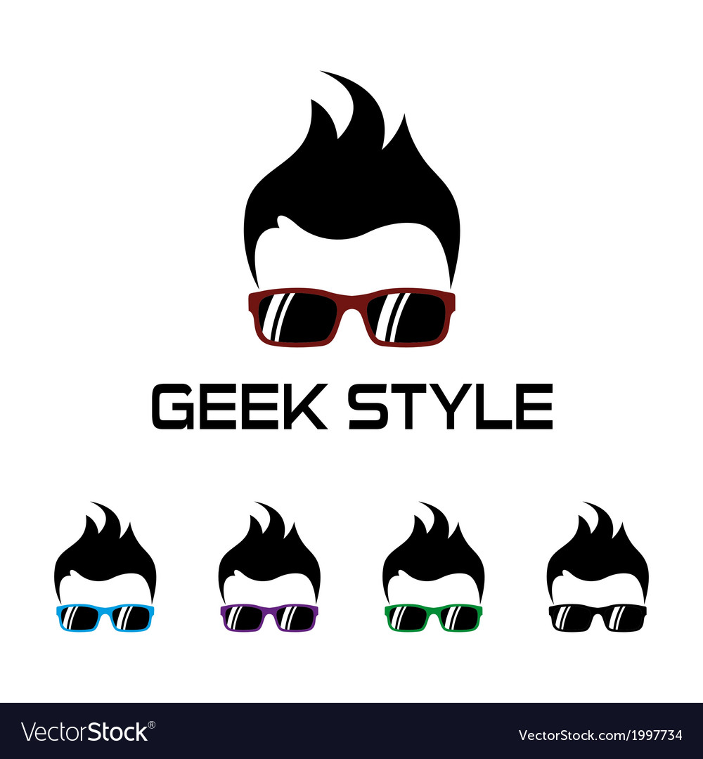 Geek style logo template vector | Price: 1 Credit (USD $1)