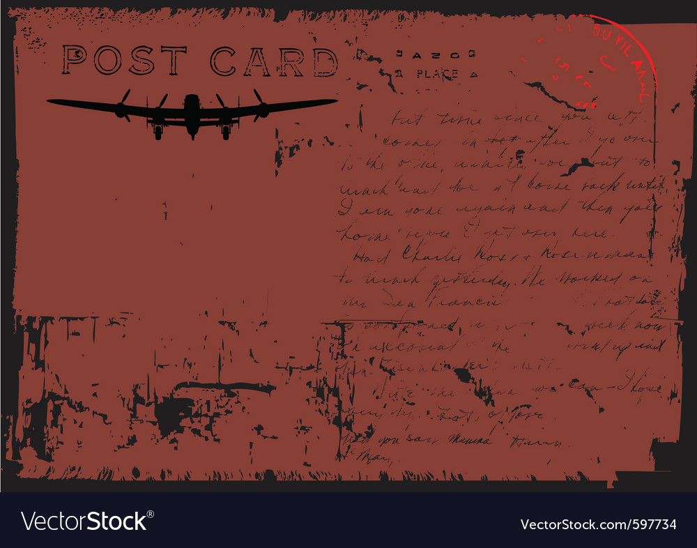Grunge postcard design vector   Price: 1 Credit (USD $1)