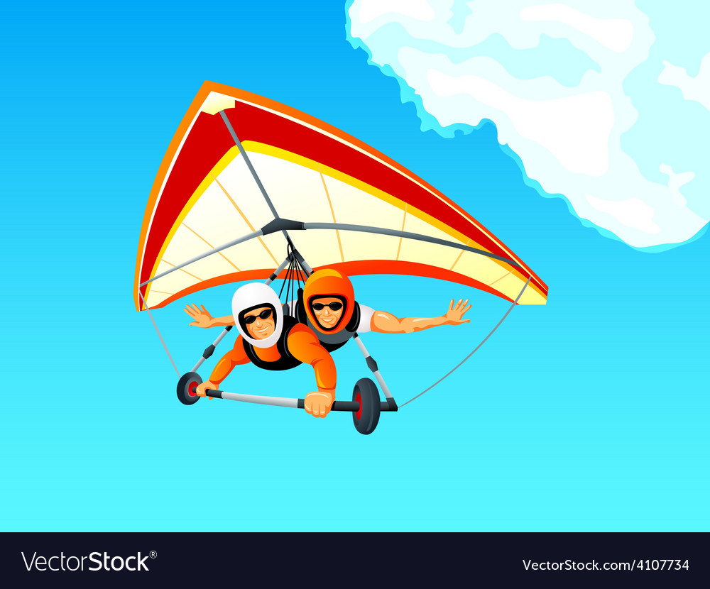 Hang gliding tandem vector | Price: 3 Credit (USD $3)