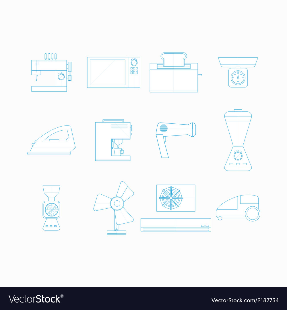 Icons for household appliances vector | Price: 1 Credit (USD $1)