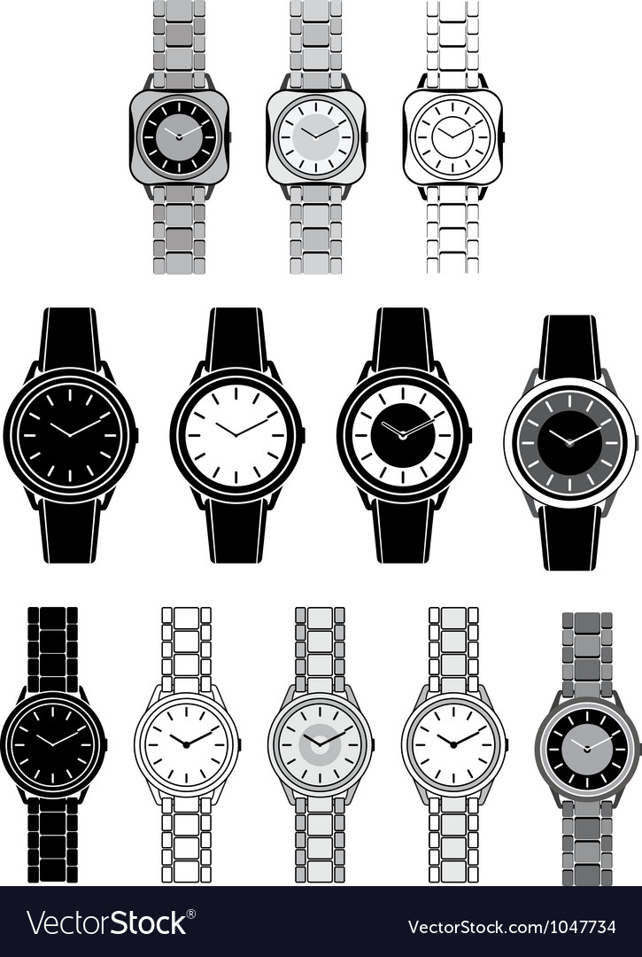 Image of a female watch vector | Price: 1 Credit (USD $1)