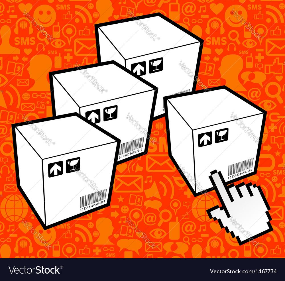Logistic box icon vector | Price: 1 Credit (USD $1)