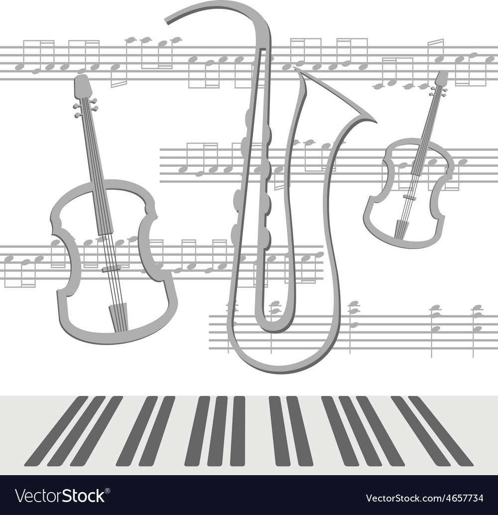 Notes viola vector | Price: 1 Credit (USD $1)