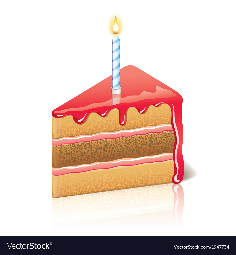 Object piece of cake jam vector | Price: 1 Credit (USD $1)