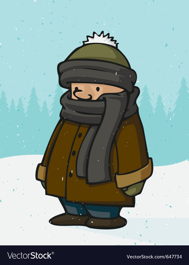 Outside winter kid vector | Price: 1 Credit (USD $1)