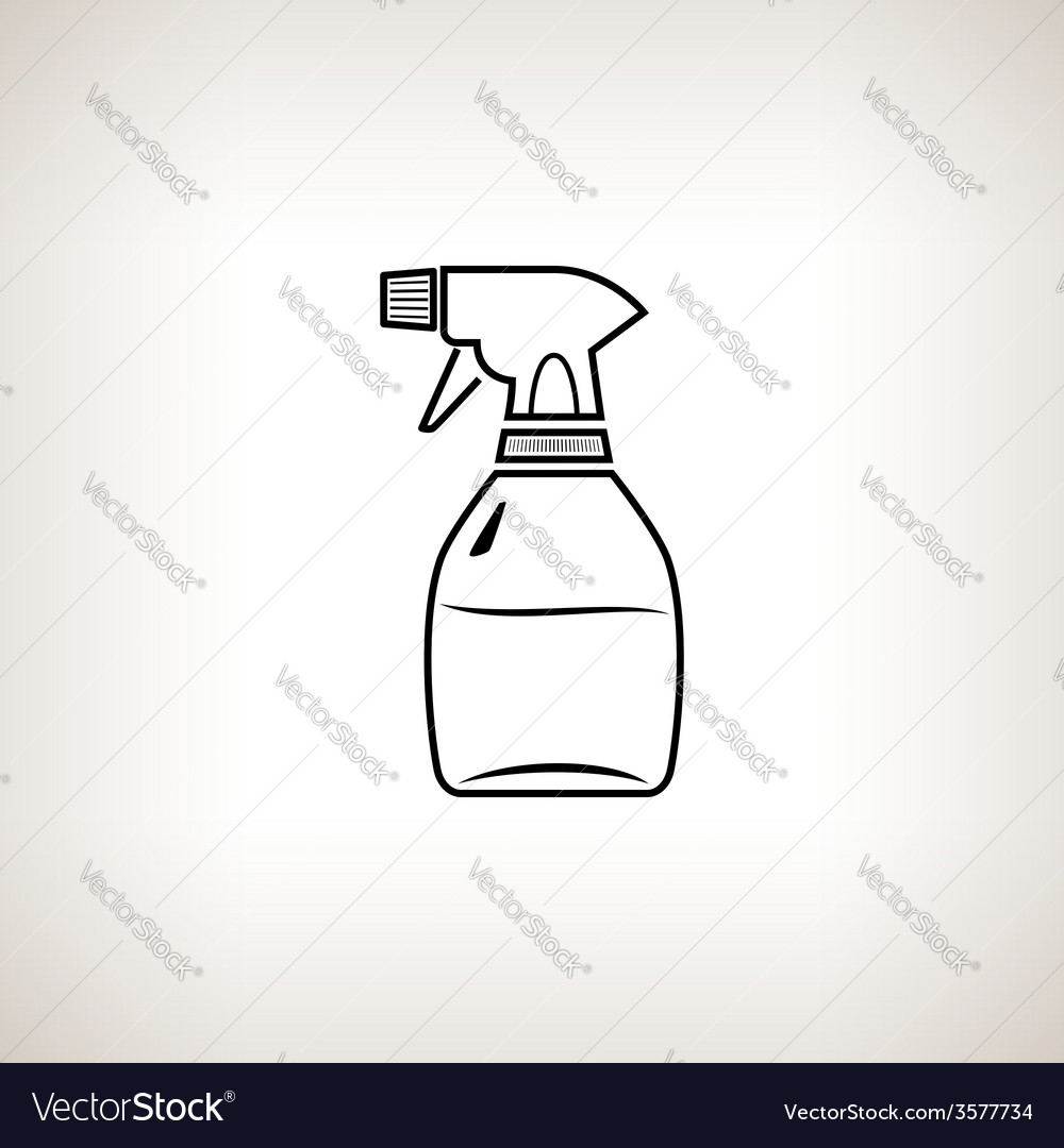 Silhouette sprayer on a light background vector | Price: 1 Credit (USD $1)