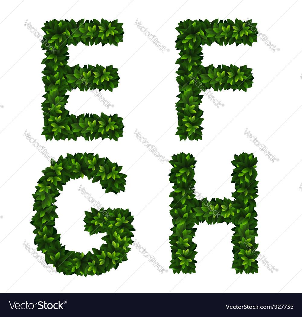 Alphabet efgh vector | Price: 1 Credit (USD $1)