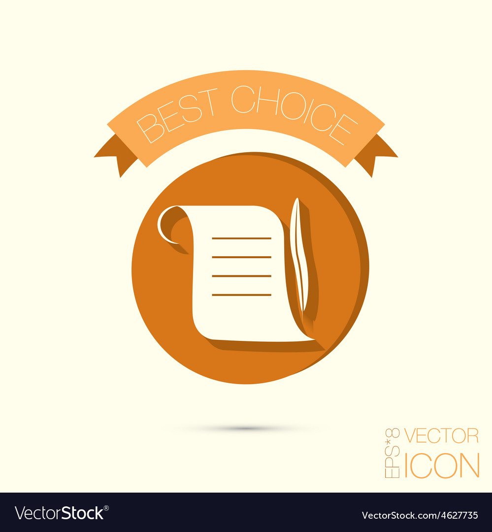 Ancient parchment sheet of paper and a quill to vector   Price: 1 Credit (USD $1)