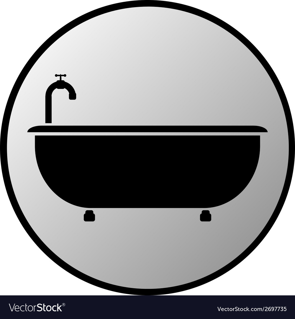 Bathtub button vector | Price: 1 Credit (USD $1)