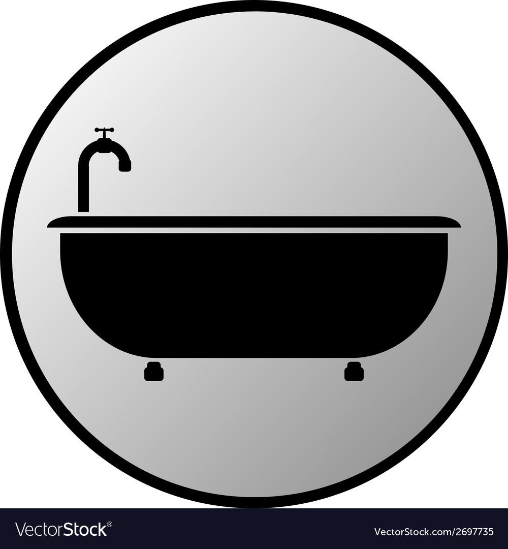 Bathtub button vector | Price: 1 Credit (USD $1)