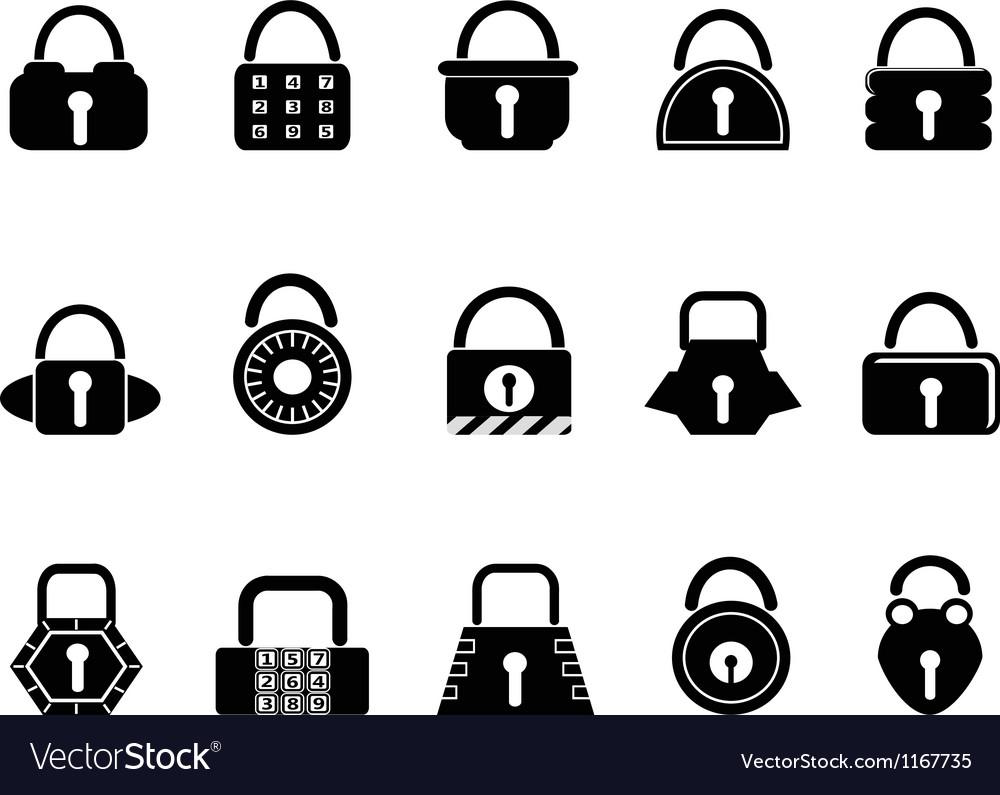 Black lock icons set vector   Price: 1 Credit (USD $1)