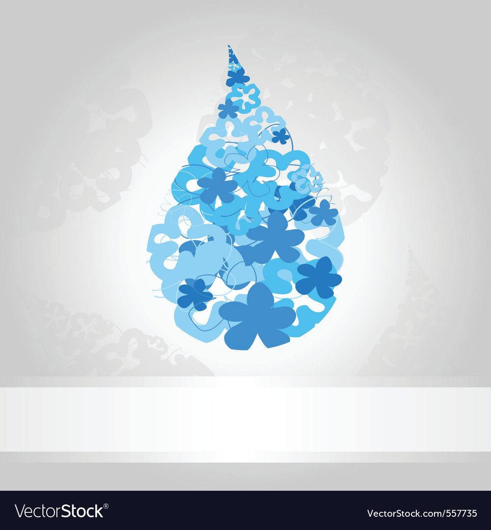 Blue drop of water on a white background a vector | Price: 1 Credit (USD $1)