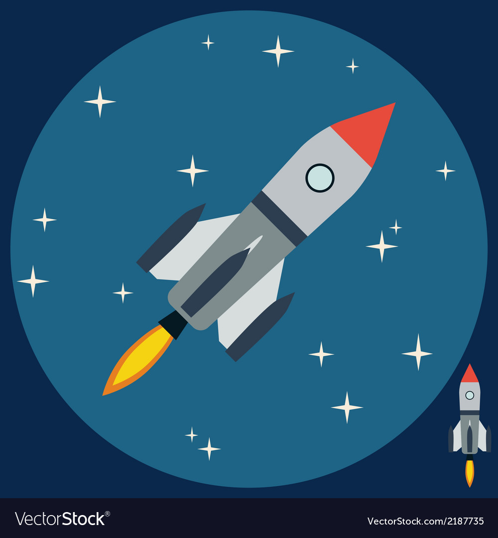 Cartoon rocket vector | Price: 1 Credit (USD $1)