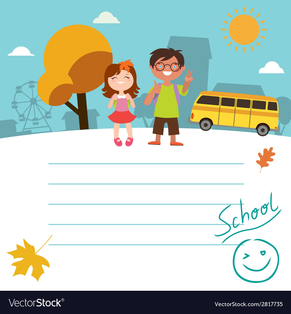 Design with kids back to school vector | Price: 1 Credit (USD $1)